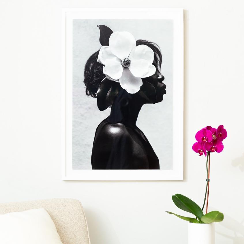 Framebridge Black Artists Print Shop Gregory Prescott Magnolia framed print white gallery frame