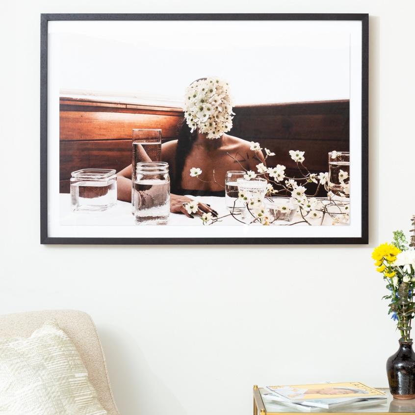 Framebridge Black Artists Print Shop Ashley Johnson Southern Woman in White Dogwoods framed print