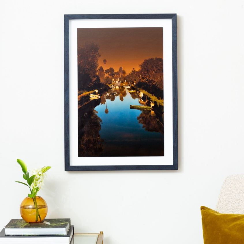 Framebridge Black Artists Print Shop Bernard Essiful Venice Canal framed print