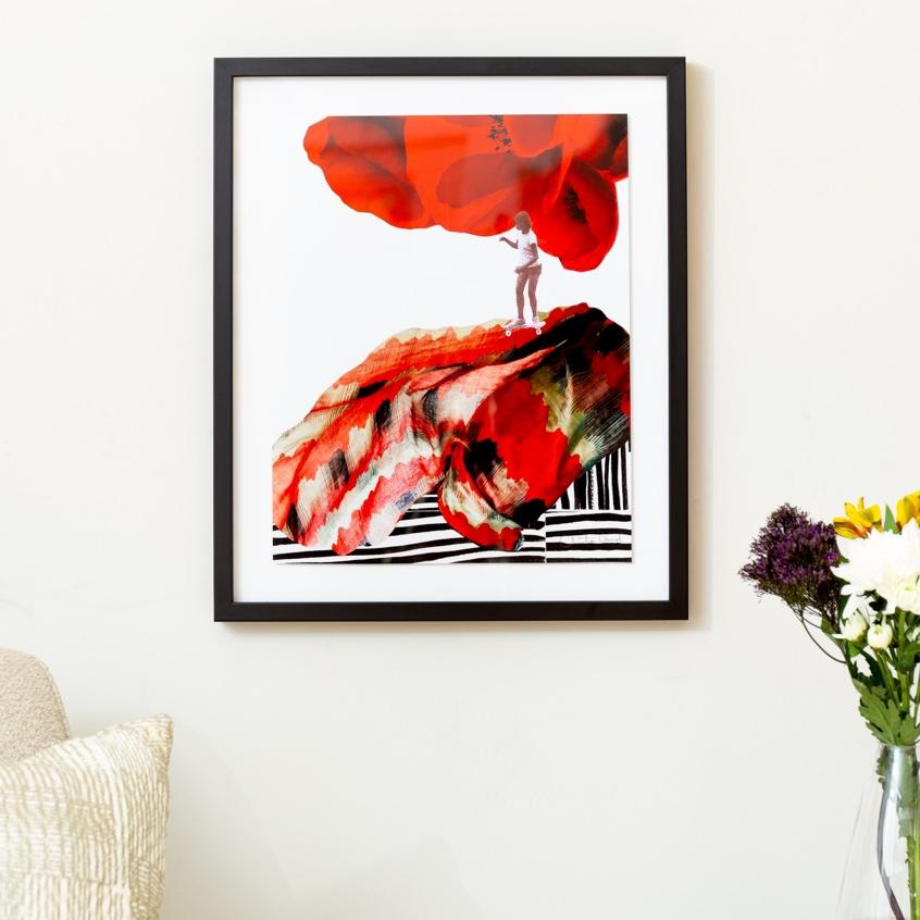 Framebridge Black Artists Print Shop Christa David Note to Self: Play is Primary framed print in black gallery frame