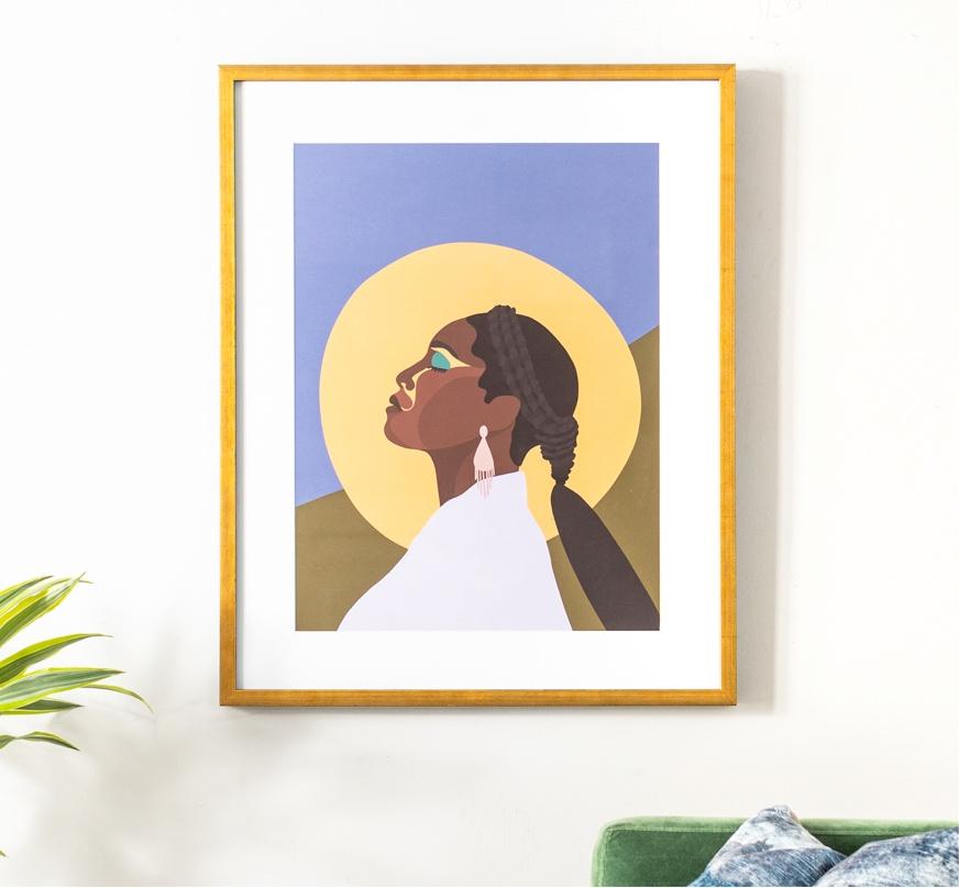 Framebridge Black Artists Print Shop Paula Champagne Issa Framed Print