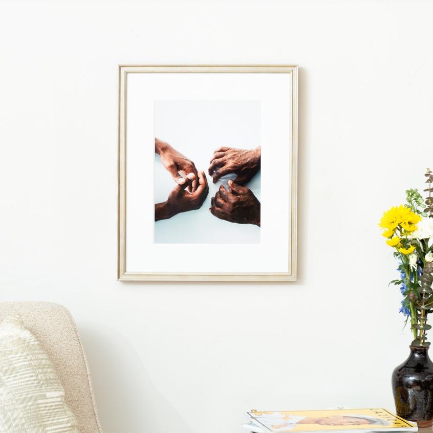 Framebridge Black Artists Print Shop Ashley Johnson Father and Son framed print
