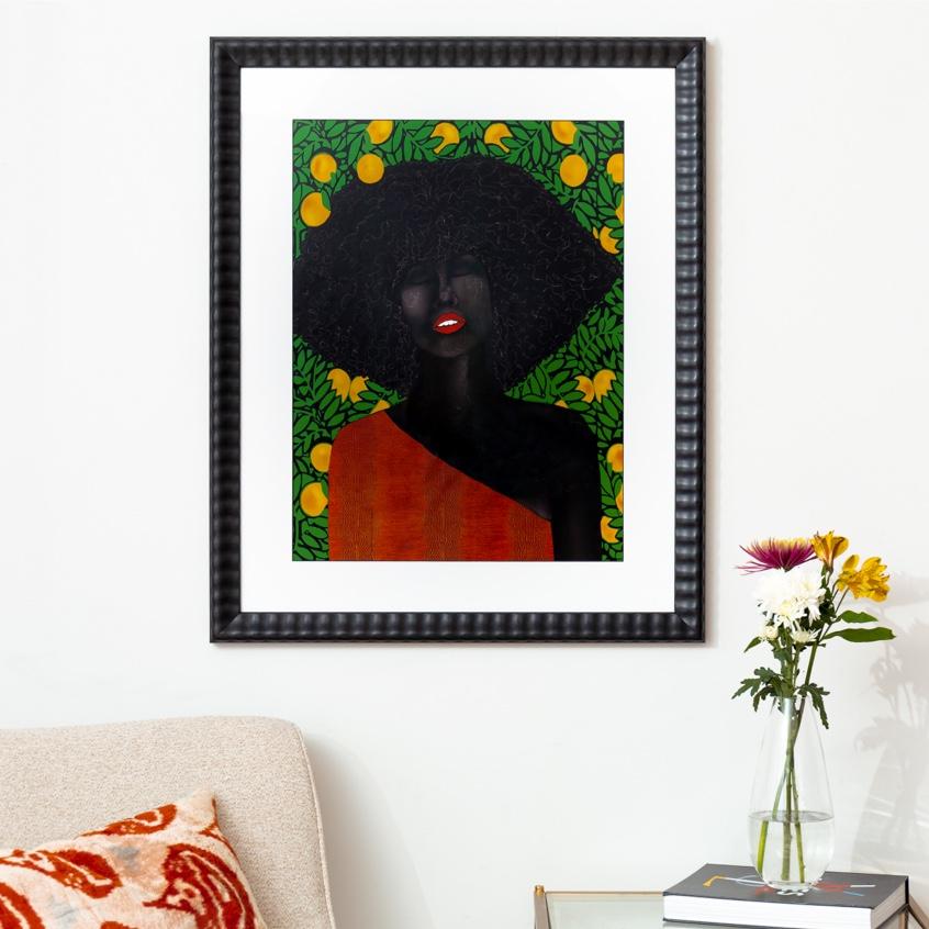Framebridge Black Artists Print Shop Uzo Njoku Under the Udala Tree framed print
