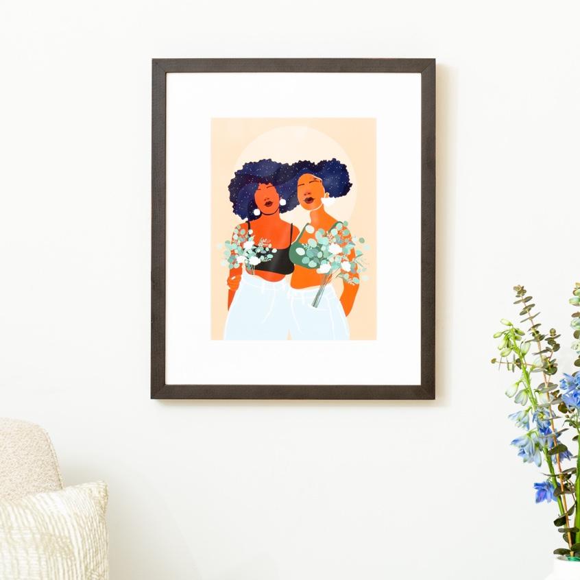 Framebridge Black Artists Print Shop Domonique Brown Soul Sisters framed print