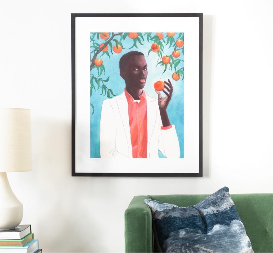 Framebridge Black Artists Print Shop Shadra Strickland Peach Framed Print