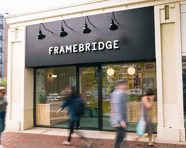 Framebridge Bethesda  street store facade