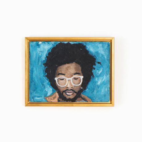 Canvas floater frame gold