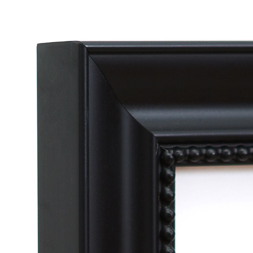 Hudson Frame Corner – 16x20 traditional black frame with beaded detail