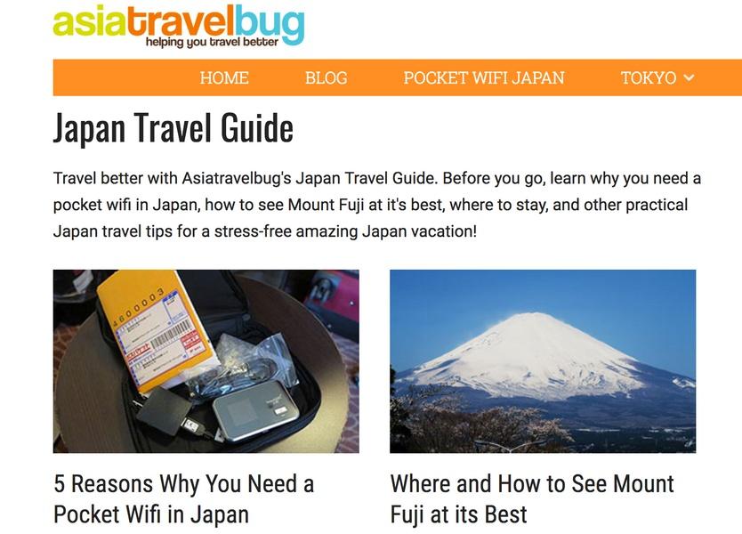 Asia Travel Bug Japan Travel Blogs