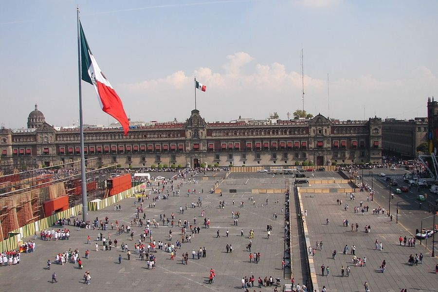 The historic center of Mexico City revolves around El Zocalo