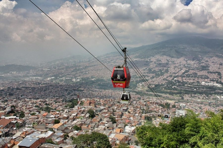 Medellin's cable cars is one of the best Colombia tourist attractions