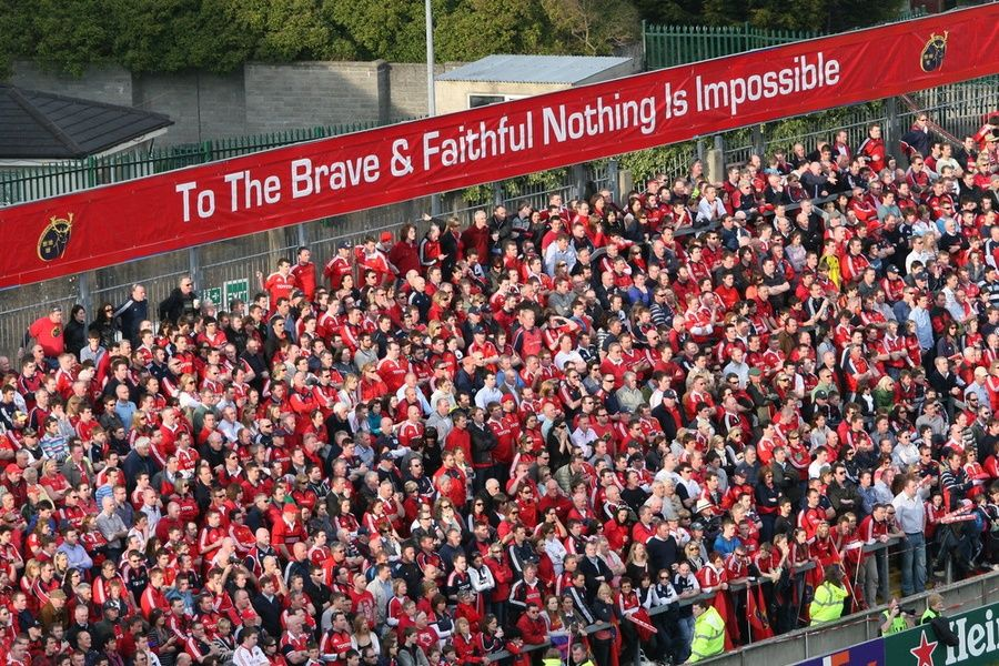 Cheering on a game at Thomond Park is a fun thing to do in Ireland
