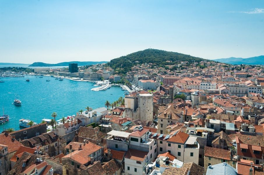 Spilt is one of the most beautiful places to visit in Croatia