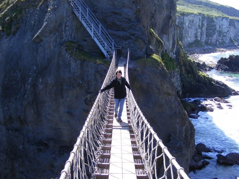 Carrick-a-Rede Rope Bridge is a cool site off the beaten path in Ireland