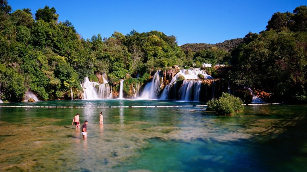 Krka National Park is one of the most beautiful places to visit in Croatia