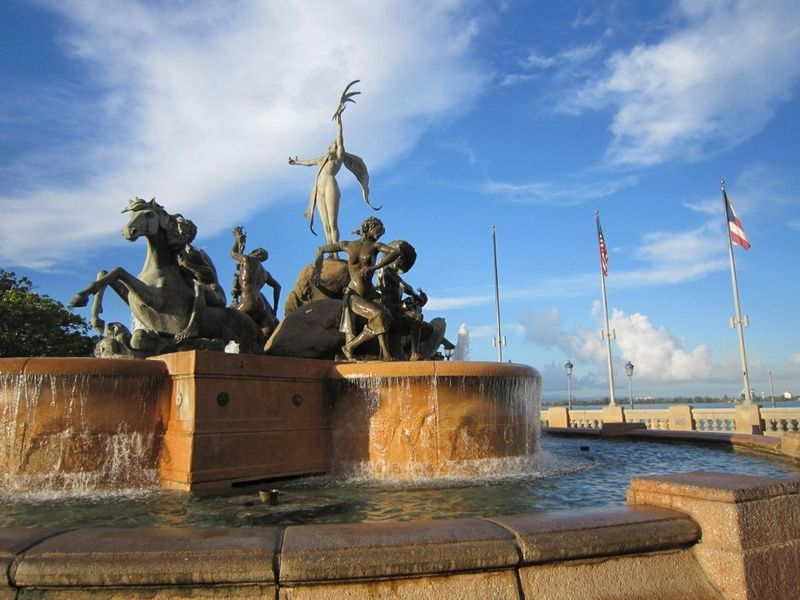 Raices Fountain is an iconic point of interest in Puerto Rico