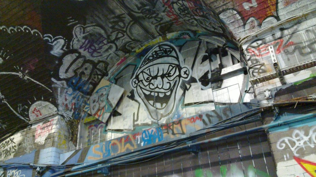The Leake Street arches are a cool and colorful place to visit in London