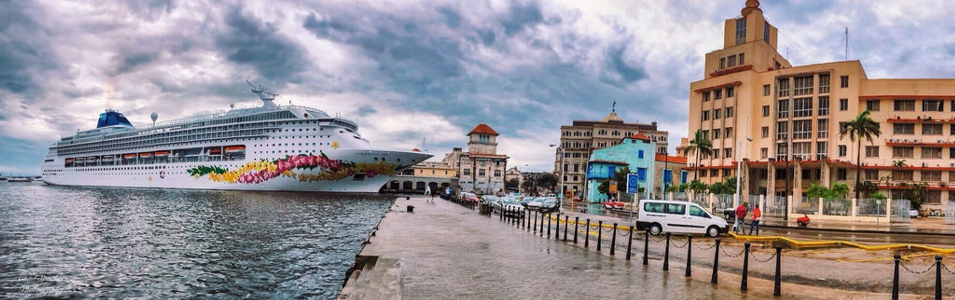 Norwegian Cruise ship docking in Havana for some Cuba shore excursions