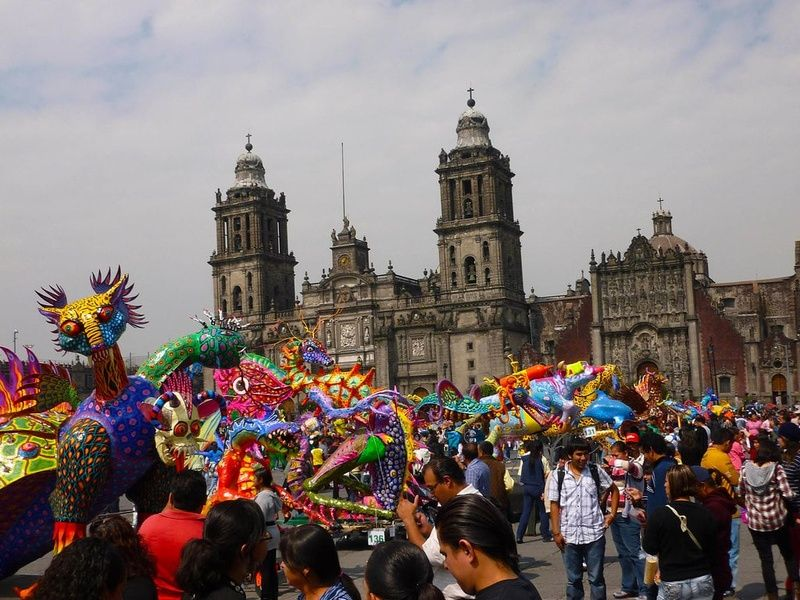 Enjoying a festival is a great thing to do in Mexico City