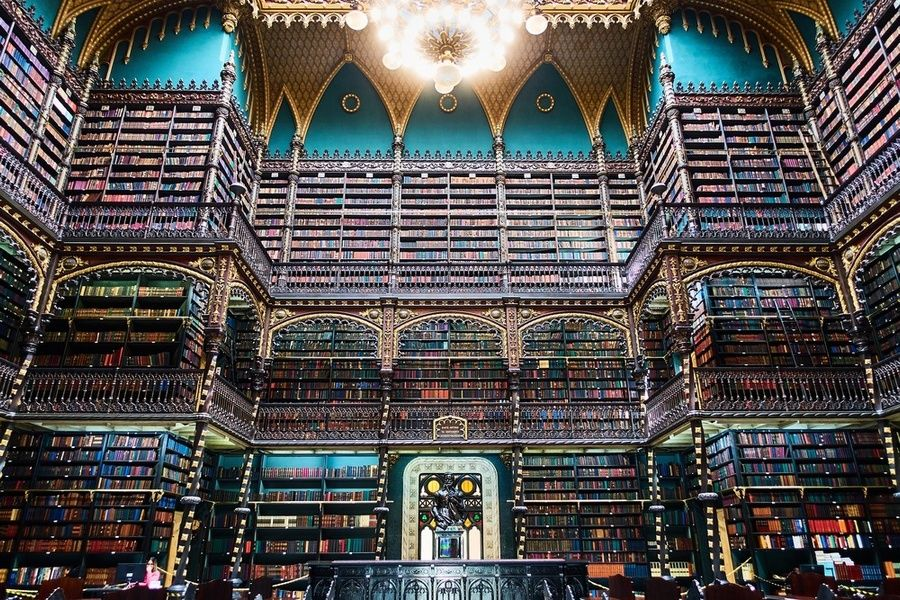 The Royal Portuguese Reading Room is one of the best places to visit in Rio de Janeiro