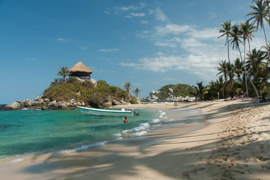 The gorgeous Tayrona National Park is among the more famous places in Colombia