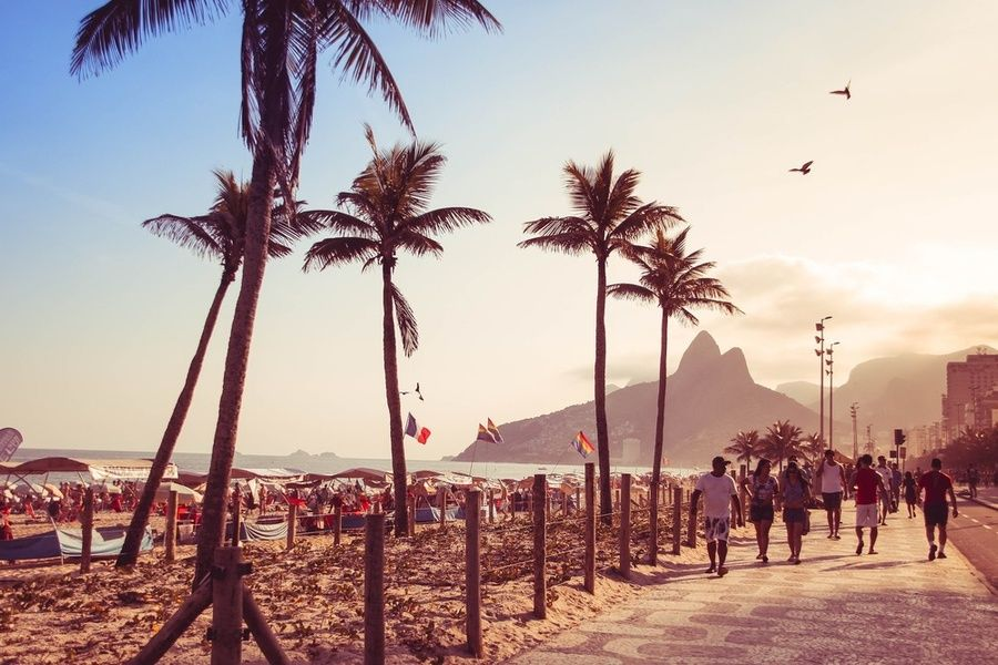 Walking Rio's famous promenade is one of the best things to do in Rio de Janeiro