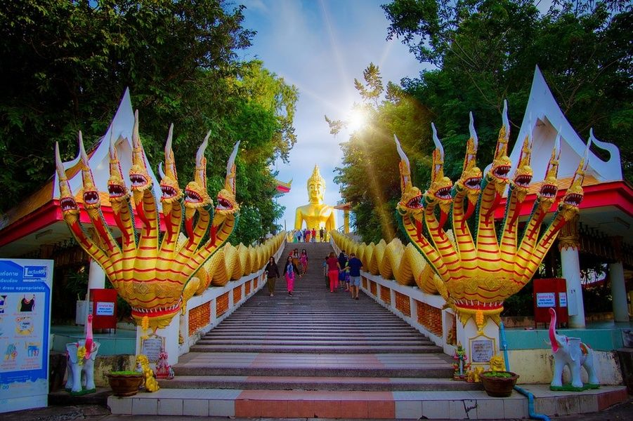 Admiring Buddhist temples is one of the best things to do in Thailand