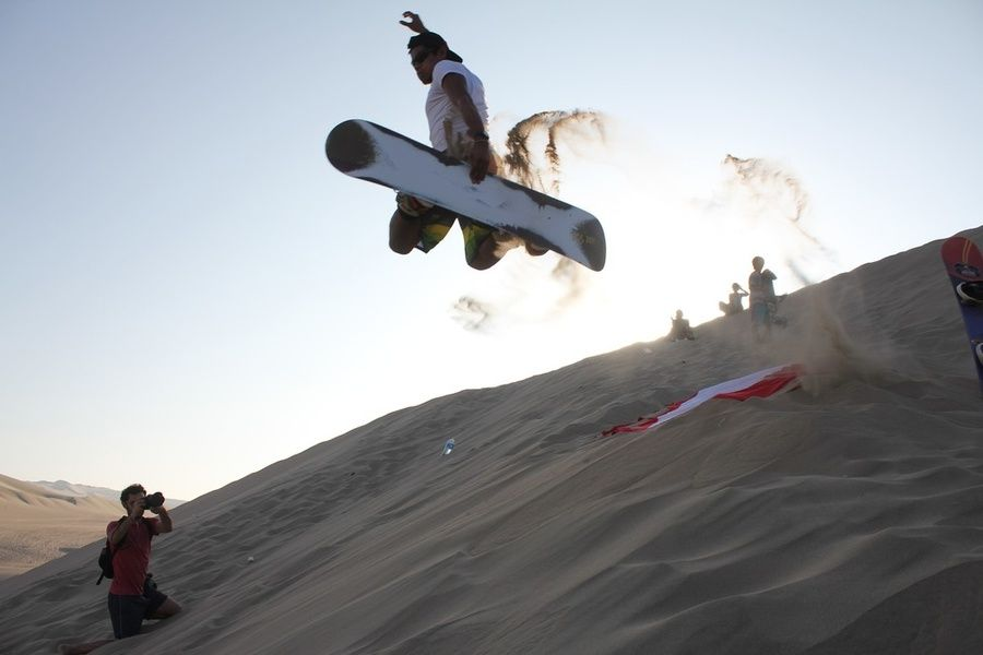 Sandboarding is one of the coolest things to do in Peru