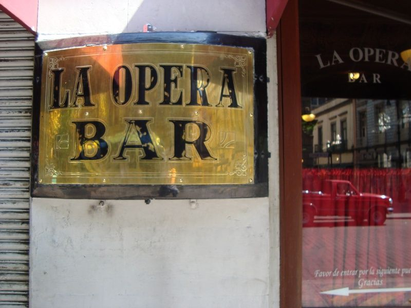 Sipping tequila at La Opera Bar is one of the classiest things to do in Mexico City