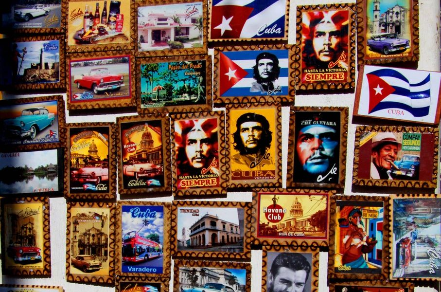 Che Guevara magnets as souvenirs from Cuba