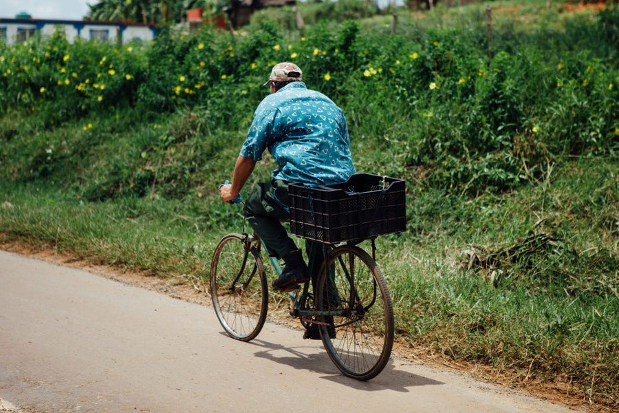 Bicycling in Vinales Valley Cuba