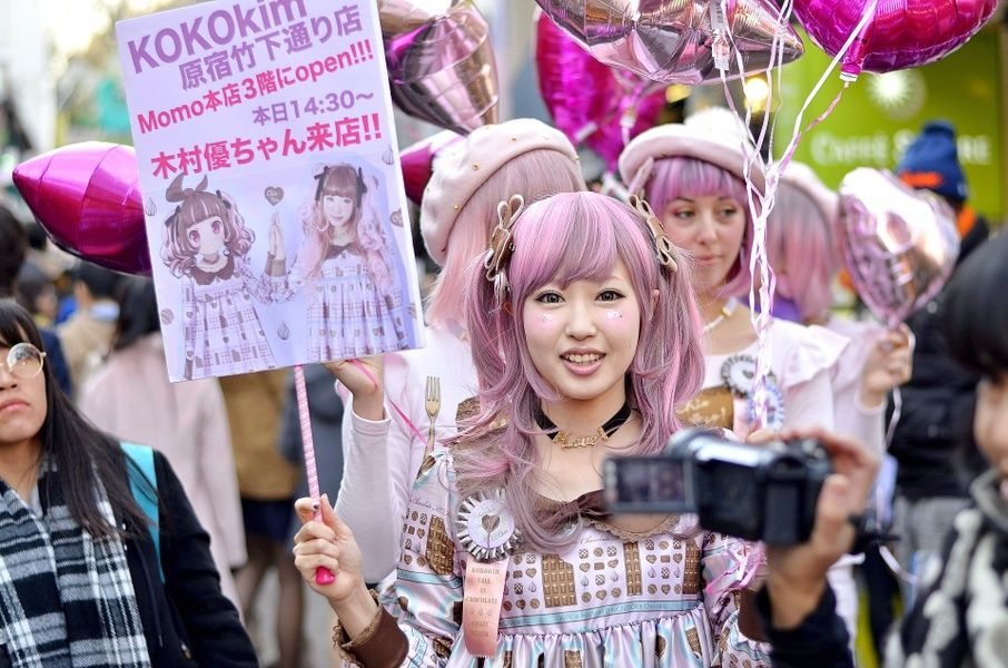 Harajuku is a point of interest in Japan for the Kawaii culture