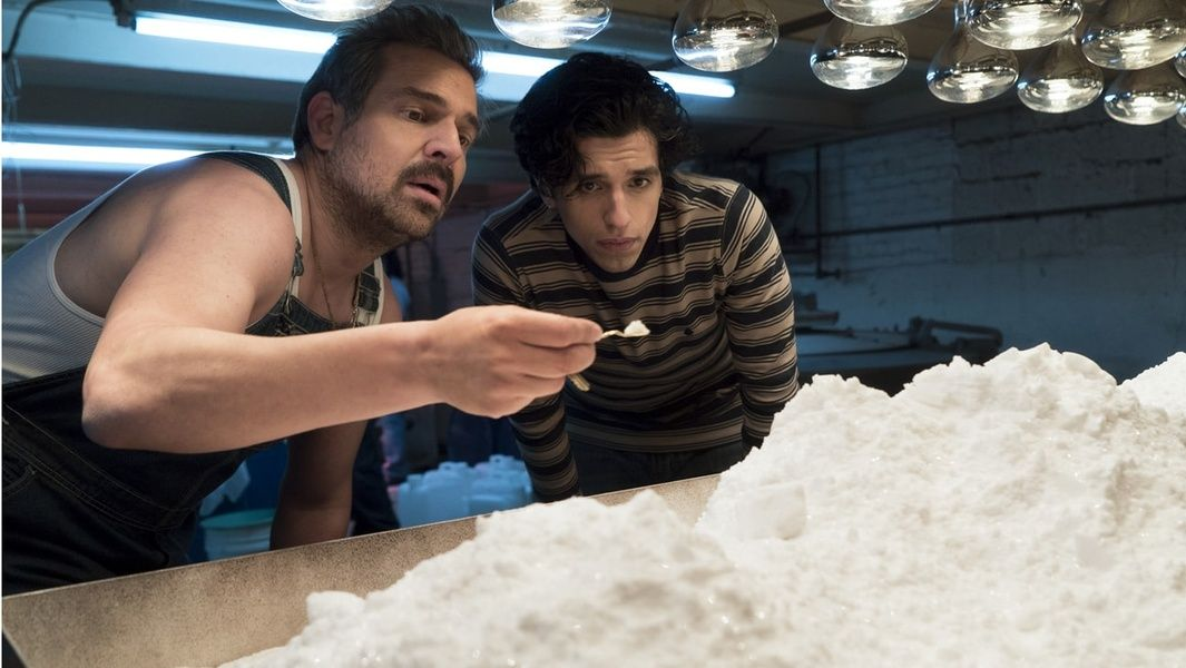 Scene in Narcos with drugs that you can't bring home from Cuba