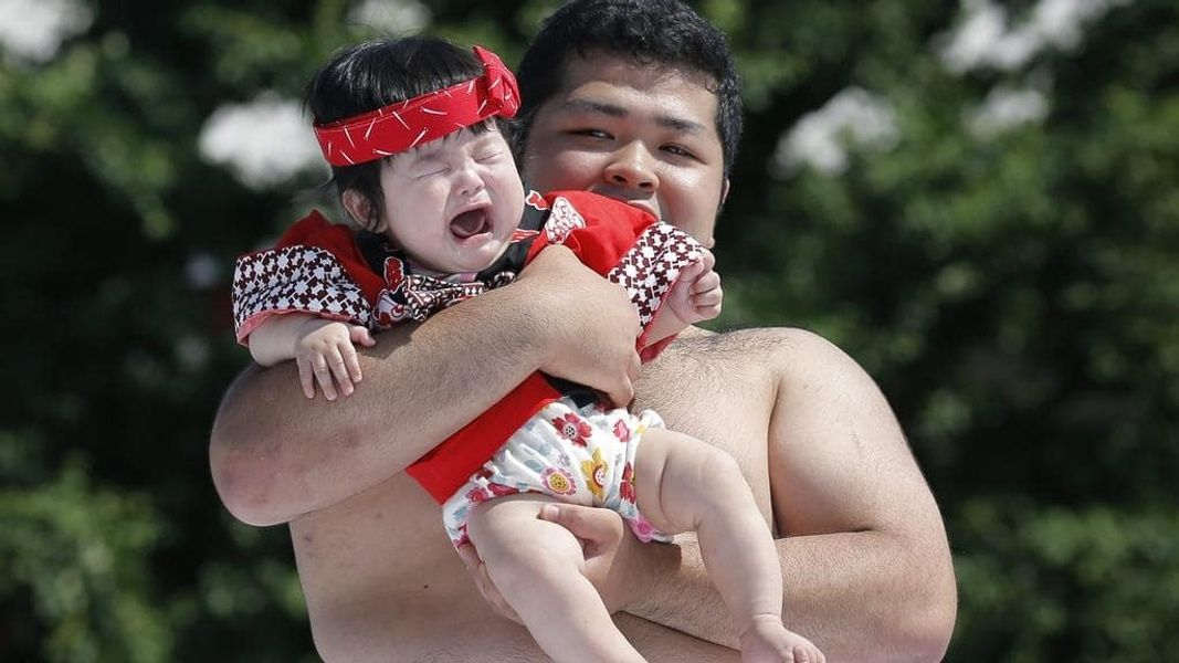 The Nakizumo Crying Baby festival is one of the Things to do in Japan in April