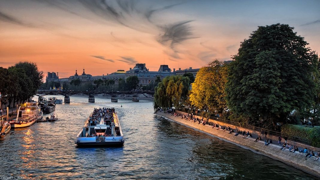 Cruising down the Seine on a bateau mouche is a fun thing to do in France