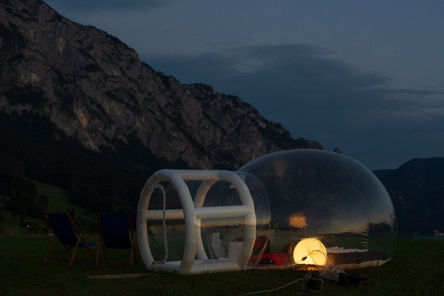 Camping in a bubble dome is one of the best things to do in Shannon Ireland
