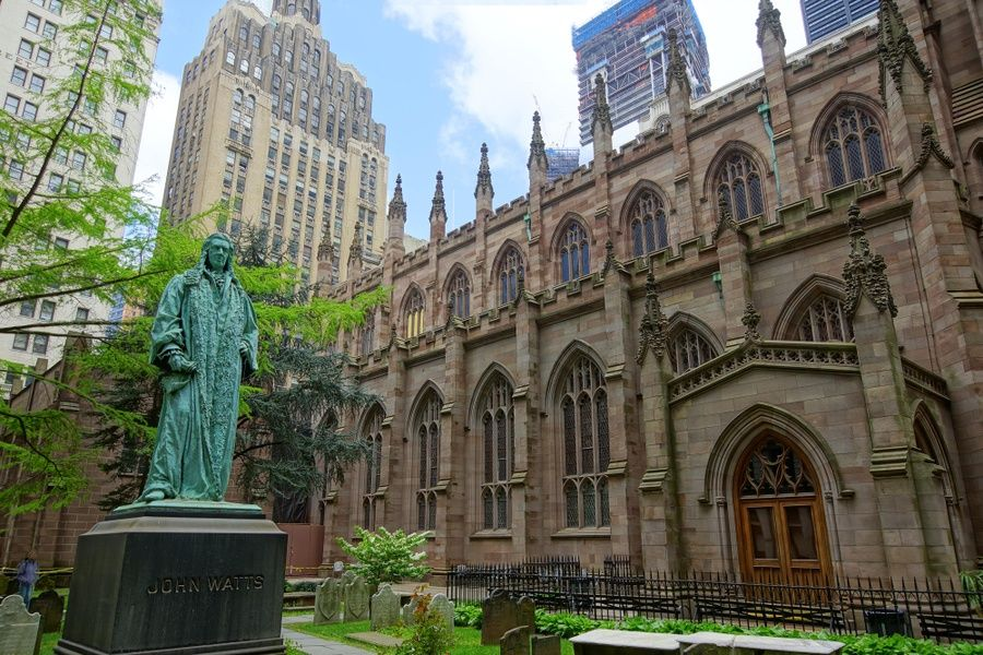 Trinity Church on Wall Street is a historic place to visit in New York City