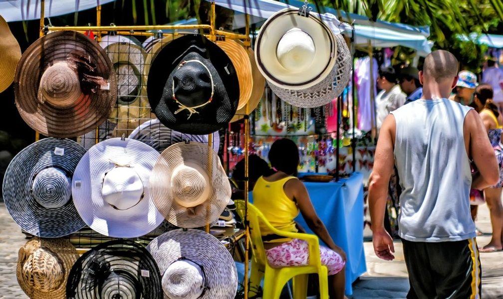 One form of transportation in Rio de Janeiro is walking