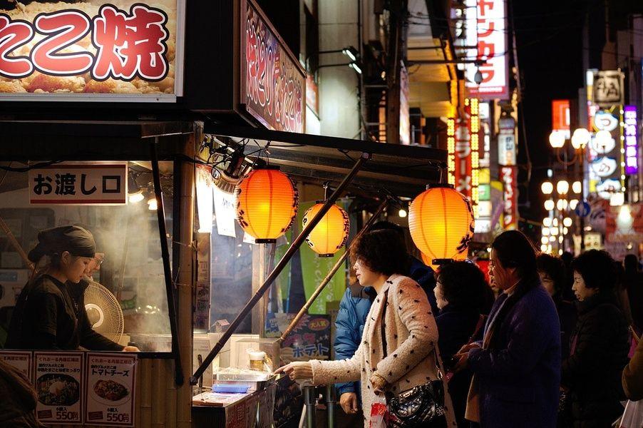 Osaka street food in Japan