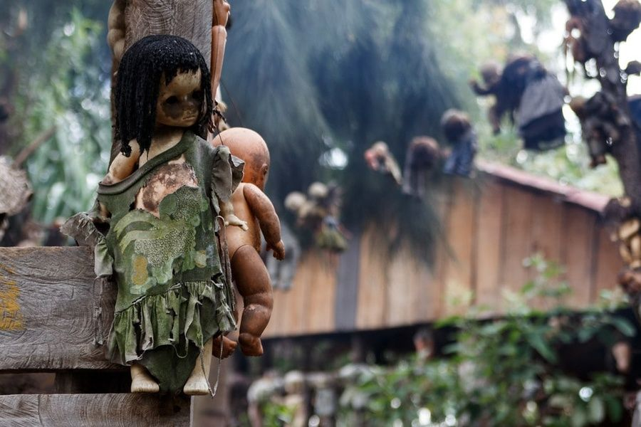 One of the creepiest things to do in Mexico City is visiting the Island of Dolls