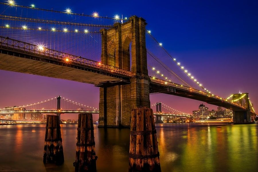The Brooklyn Bridge is one of the most beautiful places to visit in New York