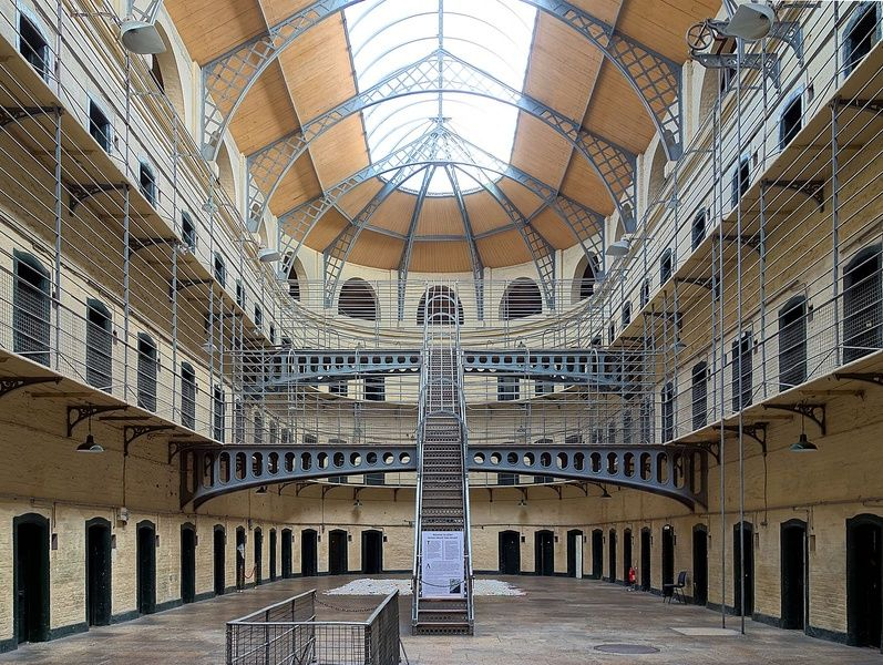 Witnessing Dublin's Kilmainham Gaol museum is a cool thing to do in Ireland