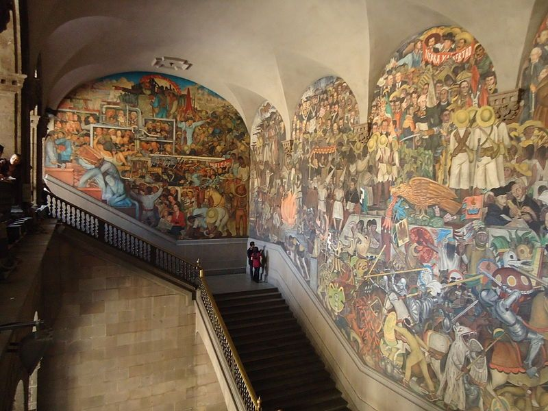The Diego Rivera Murals are one of the things to see in Mexico City