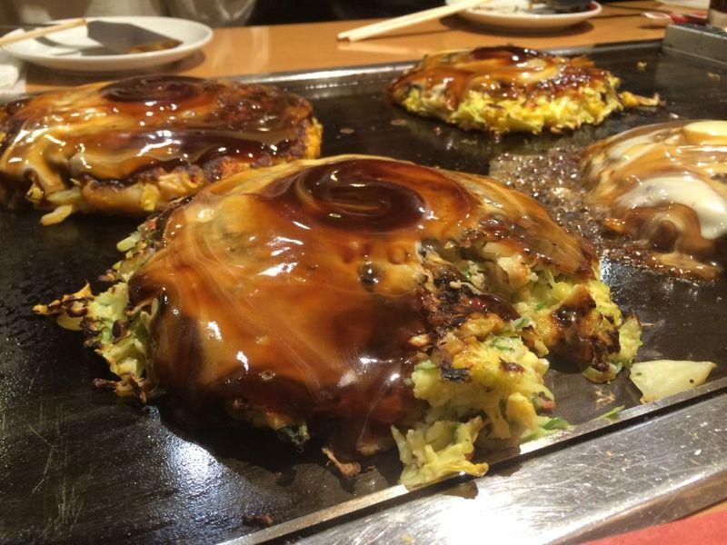 okonomiyaki in Osaka is a Japanese destination for foodies