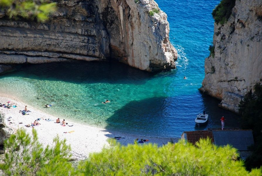 Stiniva Beach is one of the most beautiful places to visit in Croatia