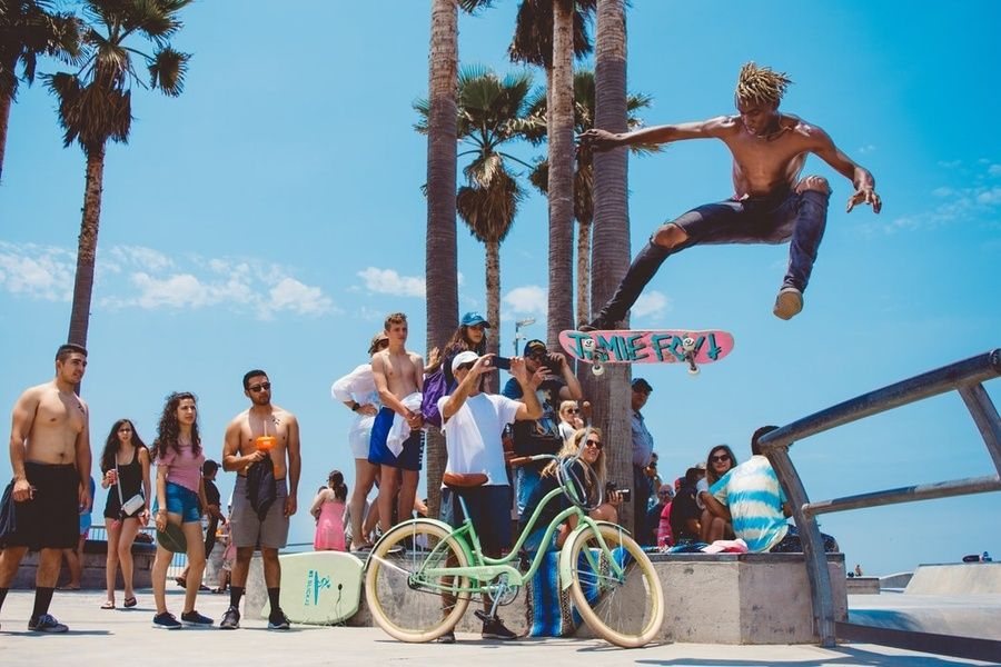 A fun thing to do in LA is people watch at Venice Beach