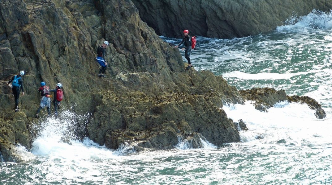 Coasteering is a fun thing to do in Ireland