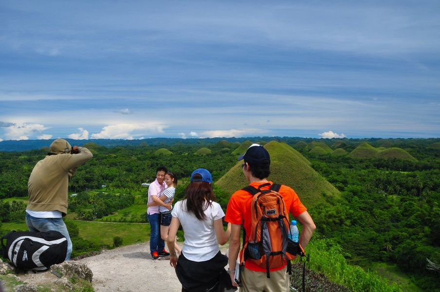 The Chocolate Hills are one of the best places to visit in the Philippines