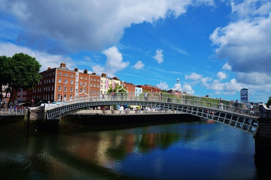 Strolling across Hapenny Bridge is a fun thing to do in Dublin