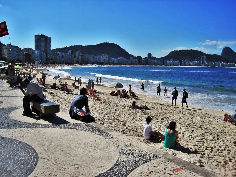 Copacabana is one of the best places to visit in Rio de Janeiro